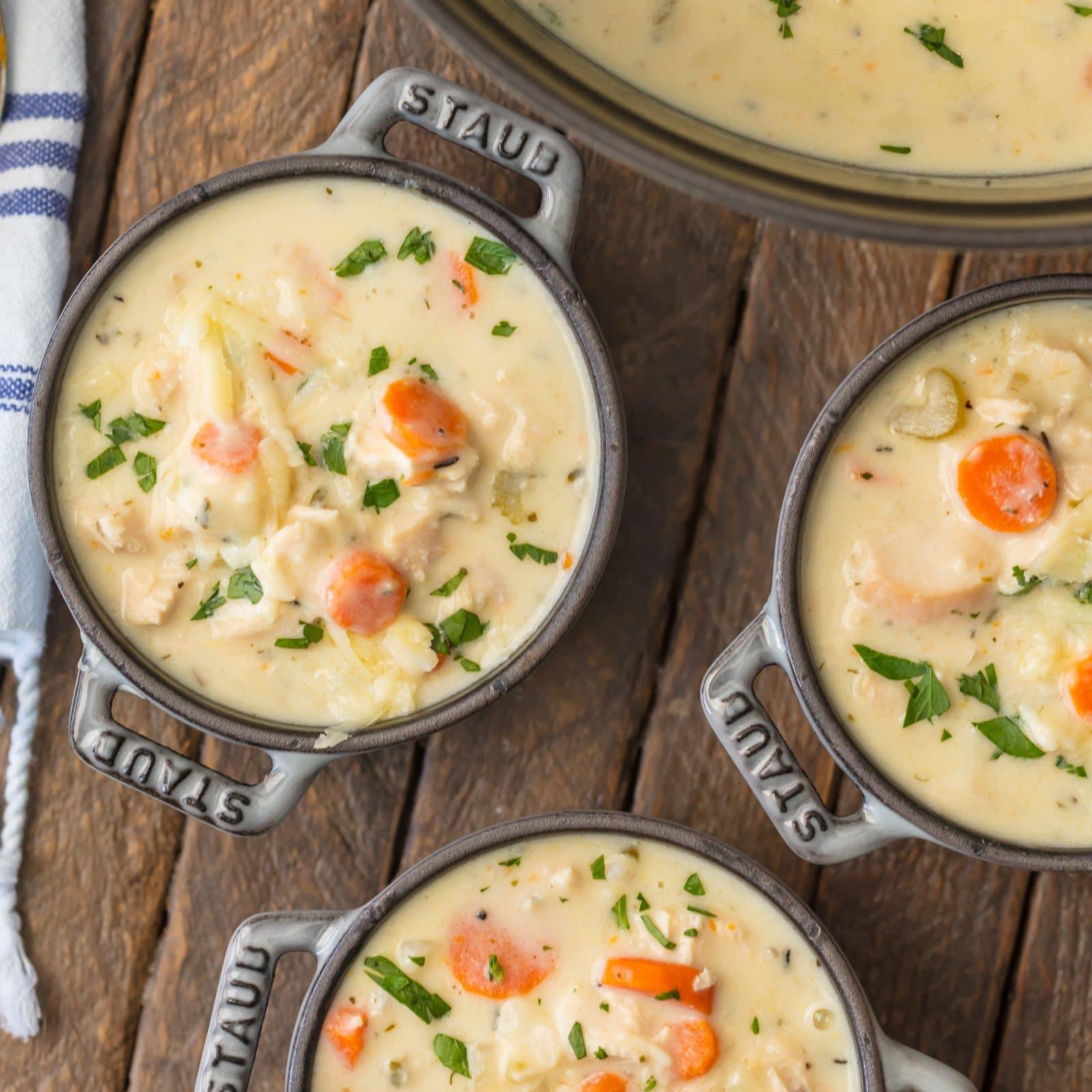 Creamy Chicken Soup Recipe  Creamy Chicken Soup Simply Sated