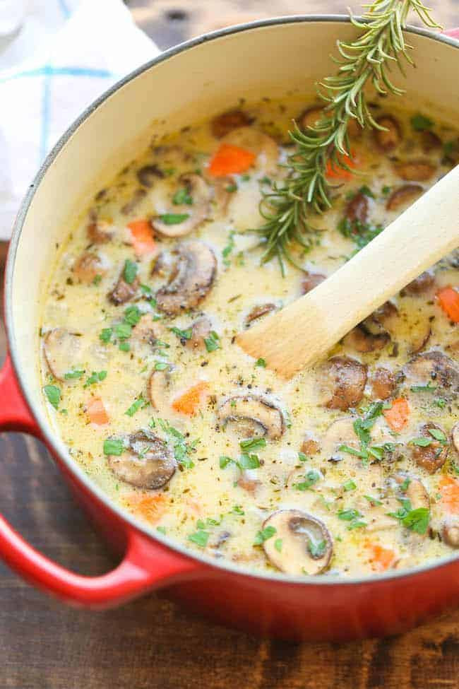 Creamy Chicken Soup Recipe  50 Best Low Carb Soup Recipes for 2018
