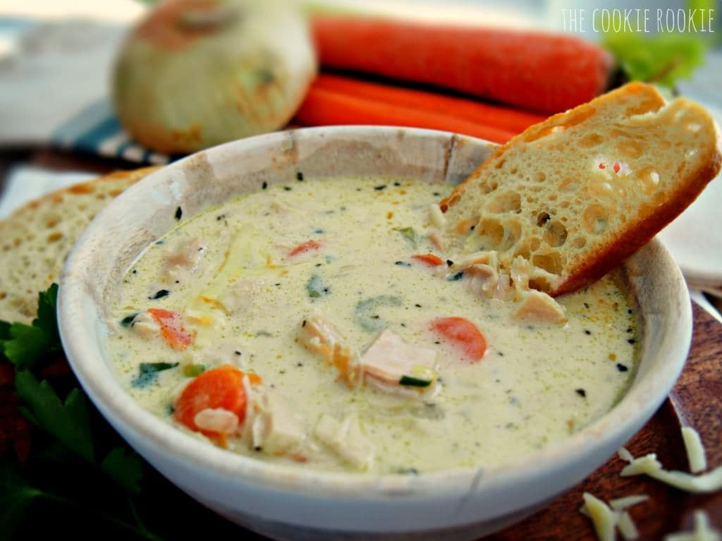 Creamy Chicken Soup Recipe  Creamy Chicken Soup The Cookie Rookie