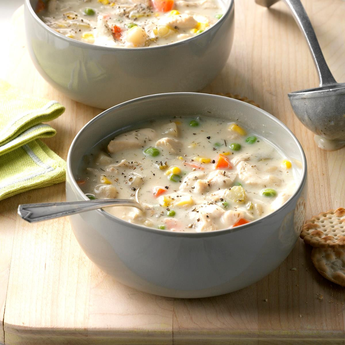 Creamy Chicken Soup Recipe  Chunky Creamy Chicken Soup Recipe