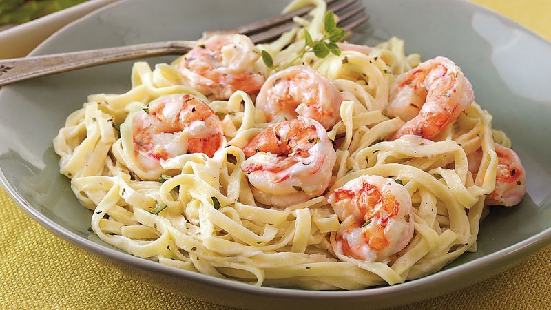 Creamy Garlic Shrimp Pasta  Creamy Garlic Shrimp and Pasta Recipe BettyCrocker