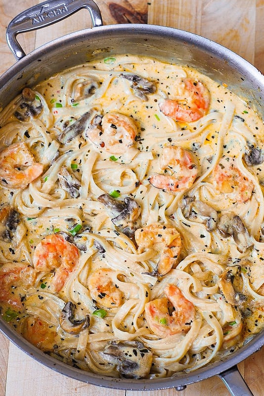 Creamy Garlic Shrimp Pasta  Creamy Shrimp Pasta with Mushrooms Julia s Album