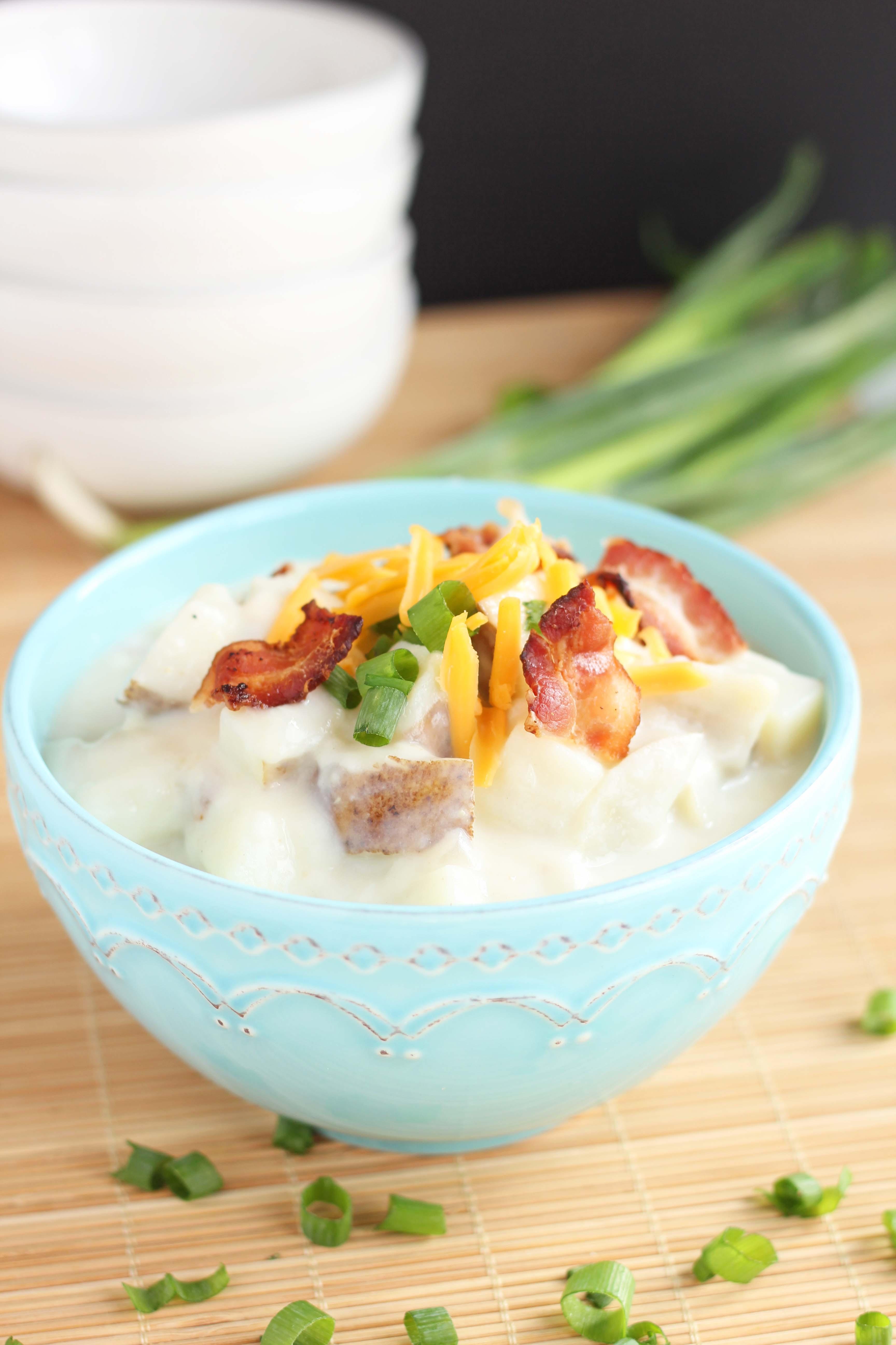 Creamy Potato Soup  Creamy Baked Potato Soup with Bacon