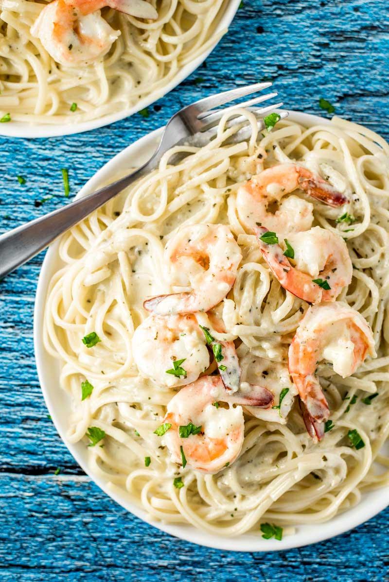Creamy Shrimp Pasta  Creamy Pesto Shrimp Pasta Homemade Hooplah