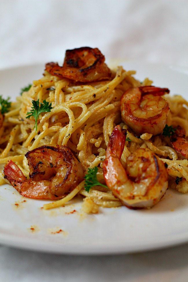 Creamy Shrimp Pasta  Spicy Creamy Shrimp Pasta Recipe