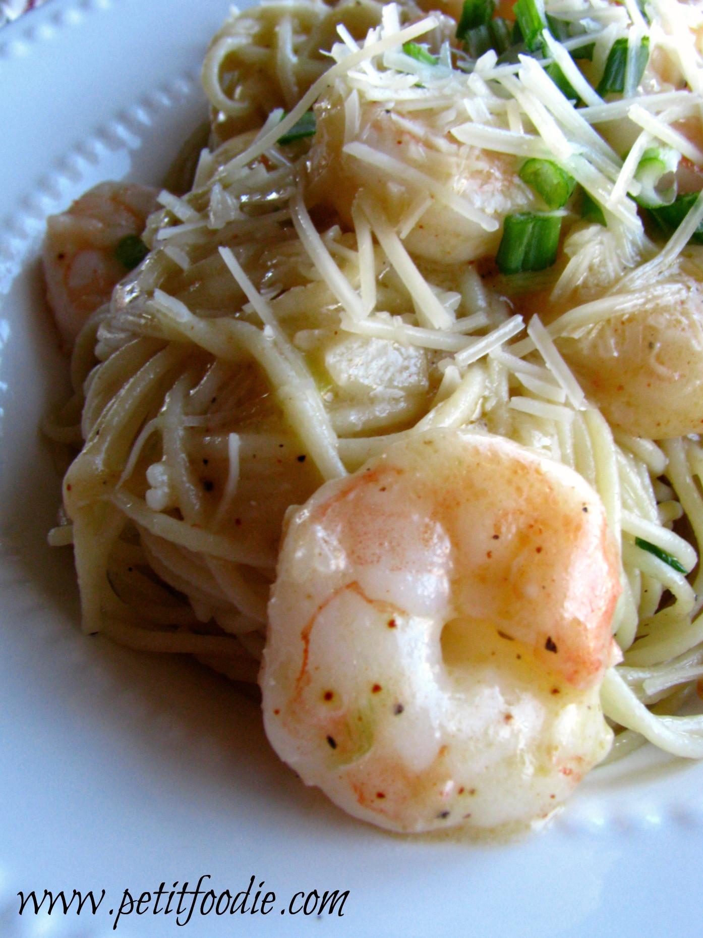 Creamy Shrimp Pasta  Skinny Creamy Shrimp Pasta Petit Foo