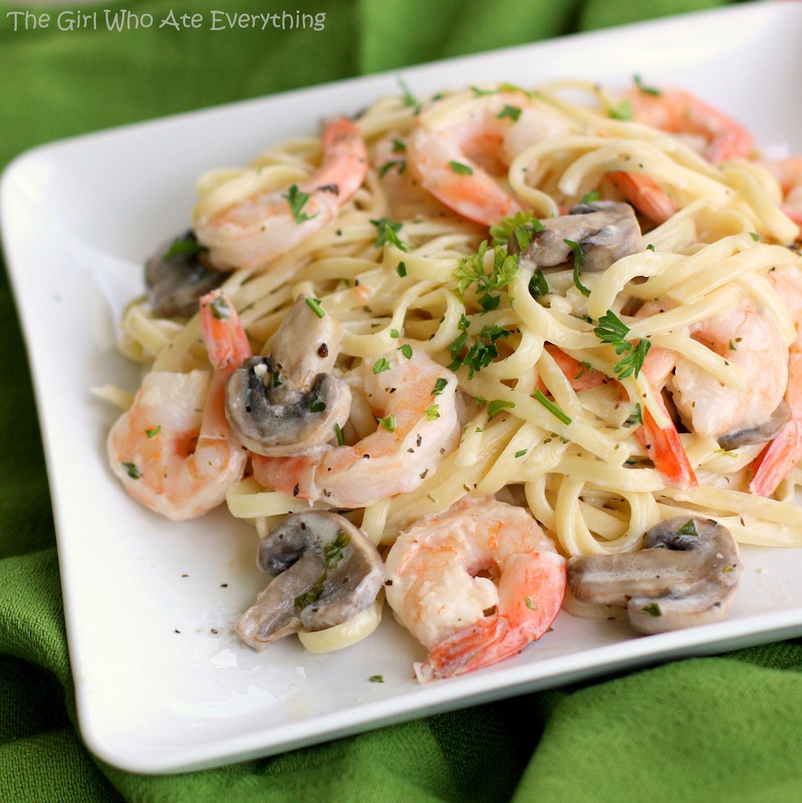 Creamy Shrimp Pasta  creamy shrimp scampi with linguini