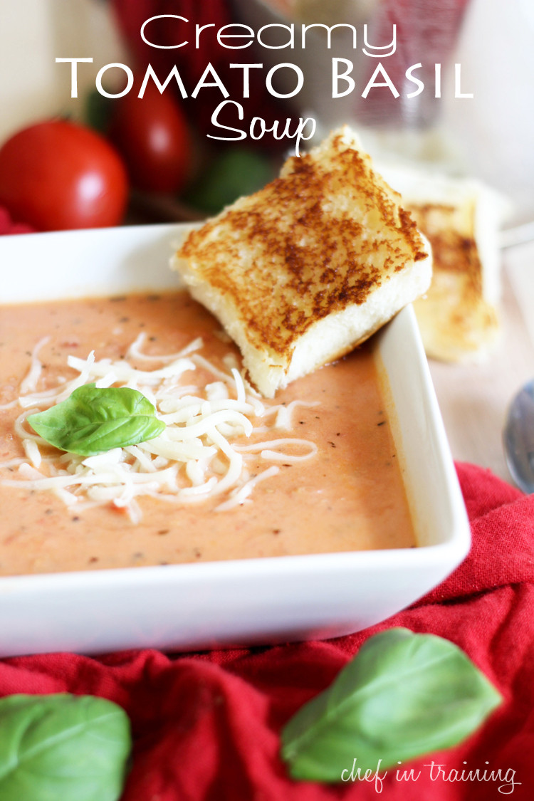 Creamy Tomato Basil Soup  Creamy Tomato Basil Soup Chef in Training