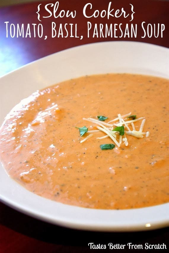 Creamy Tomato Basil Soup  Creamy Tomato Basil Parmesan Soup Tastes Better From