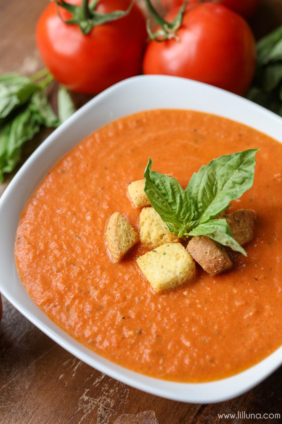 Creamy Tomato Basil Soup  Creamy Tomato Basil Soup Lil Luna