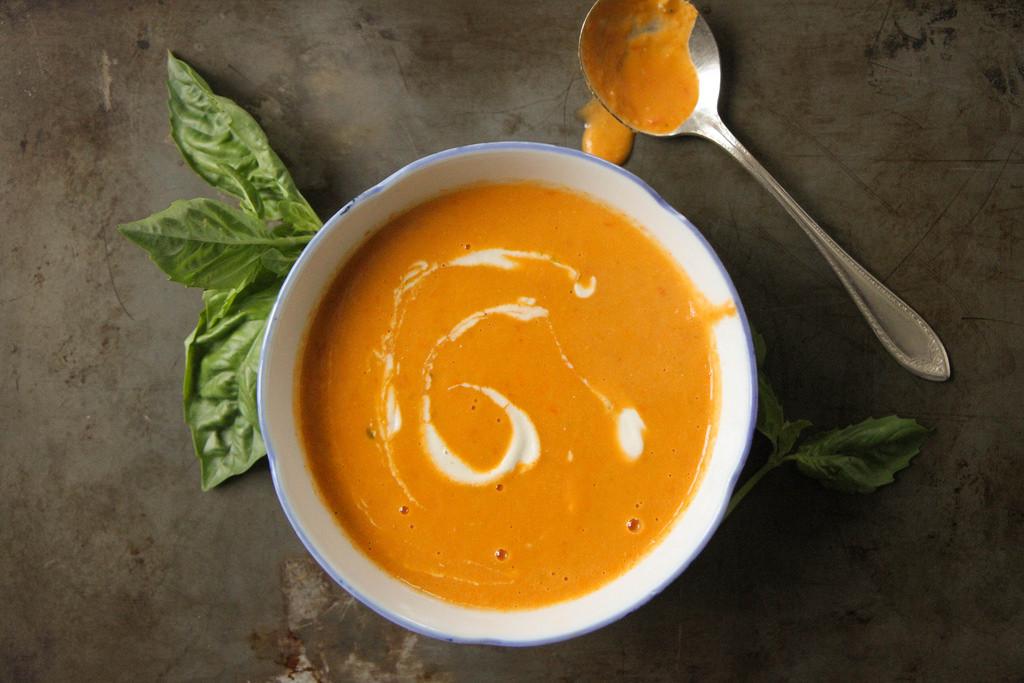 Creamy Tomato Basil Soup  Creamy Tomato Basil Soup Vegan