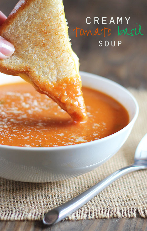 Creamy Tomato Basil Soup  Warm Winter Soup Recipes