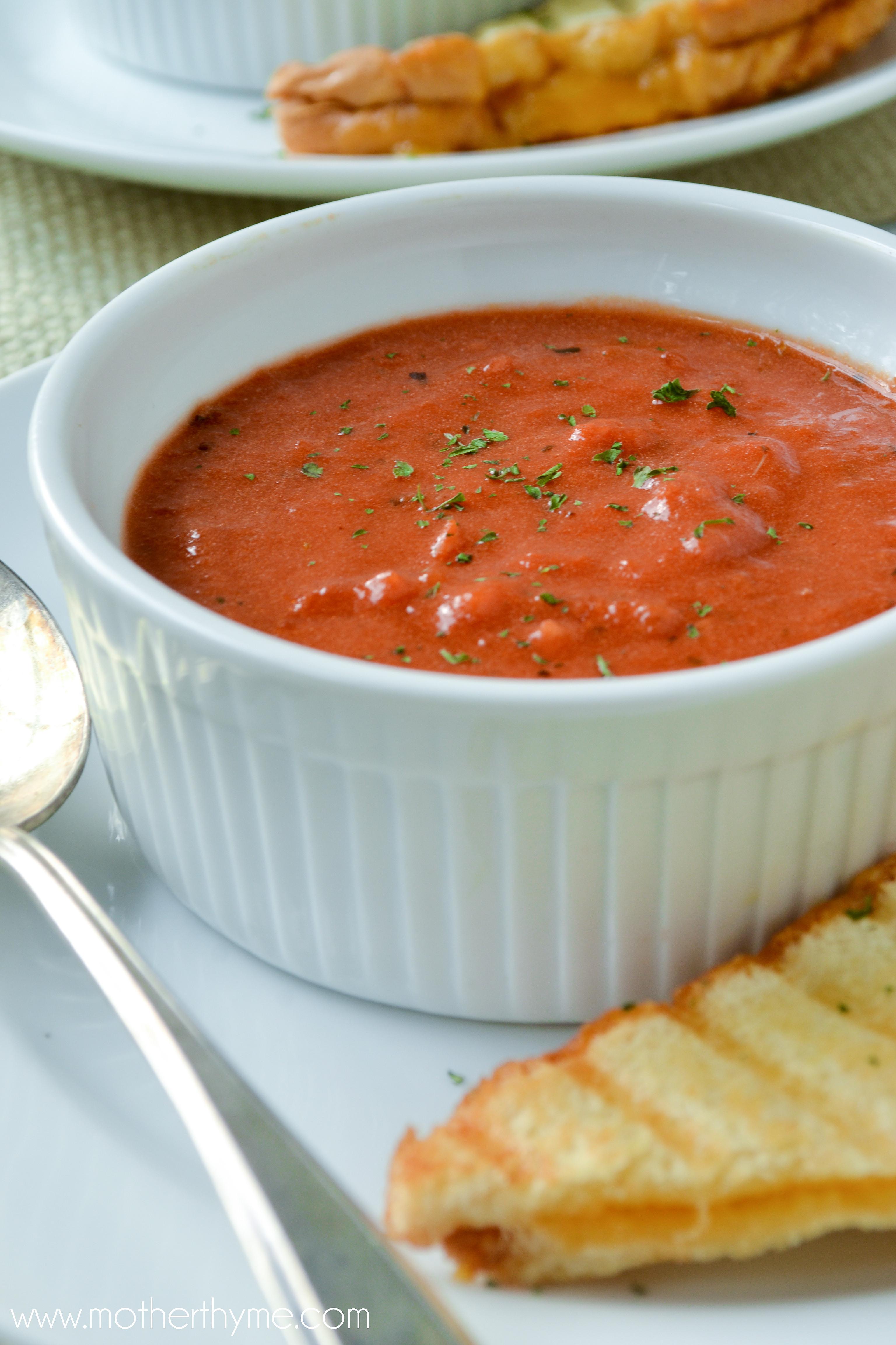 Creamy Tomato Soup  creamy tomato soup panera recipe