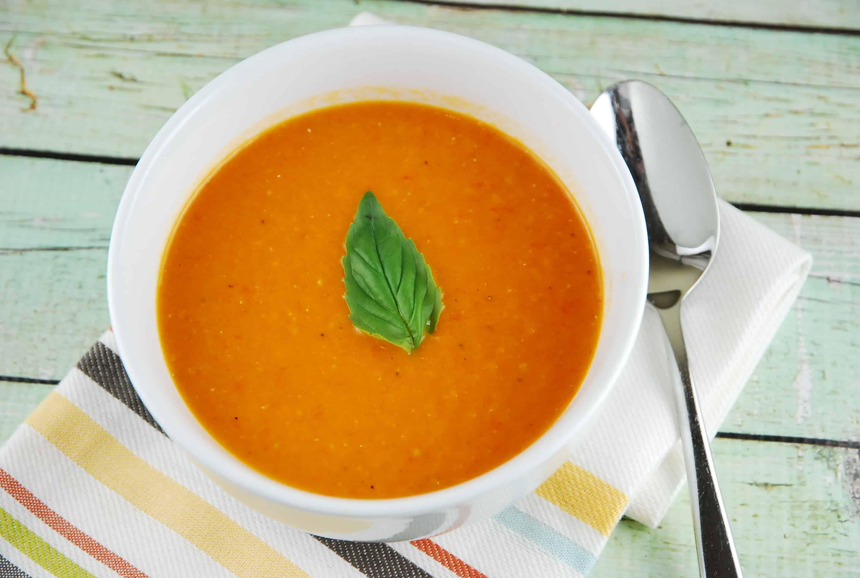 Creamy Tomato Soup  Classic Creamy Tomato Soup Recipe 4 Points LaaLoosh