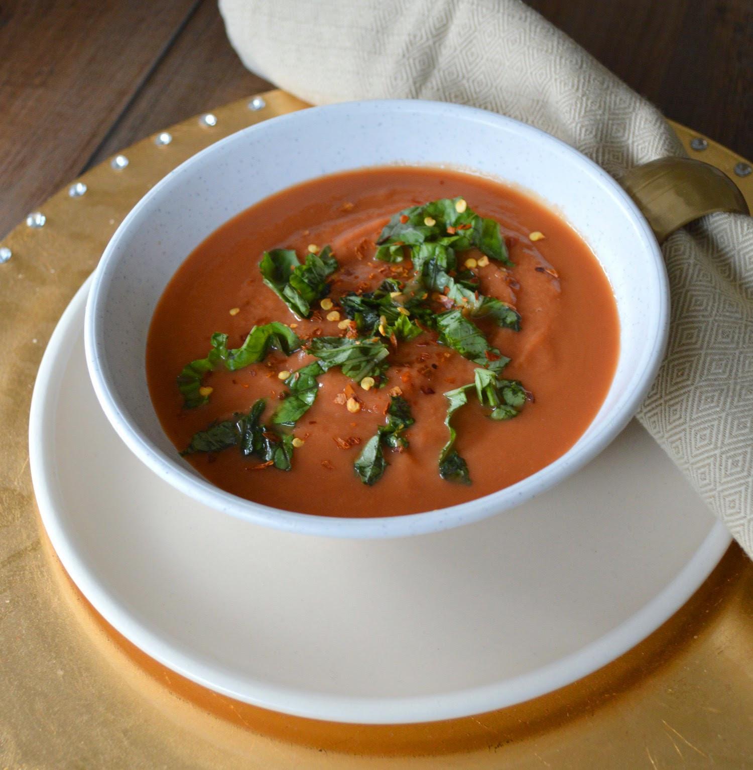 Creamy Tomato Soup  Paleo Girl s Kitchen Creamy Tomato Soup