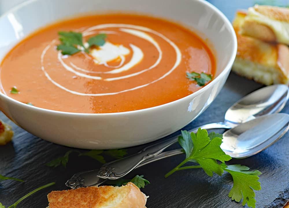 Creamy Tomato Soup  Homemade Vegan Cream of Tomato Soup TheVegLife