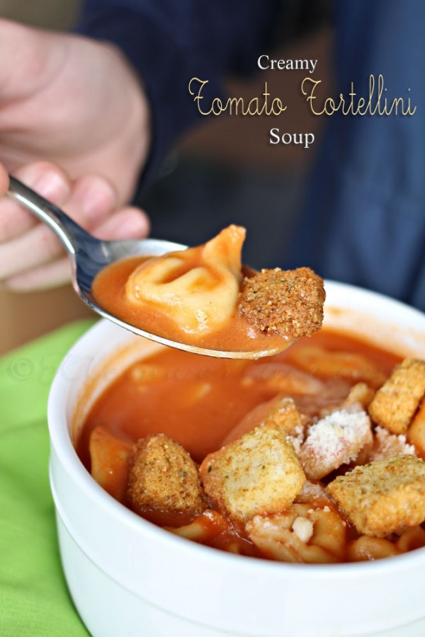 Creamy Tomato Tortellini Soup  Slow Cooker Chicken Tortilla Soup Kleinworth & Co