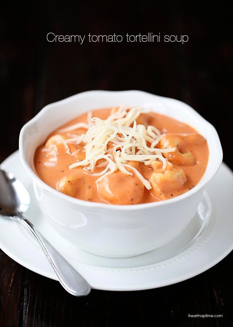Creamy Tomato Tortellini Soup  Creamy tomato tortellini soup I Heart Nap Time