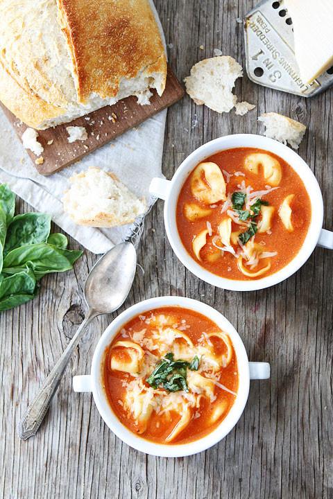 Creamy Tomato Tortellini Soup  Creamy Tomato Tortellini Soup Recipe