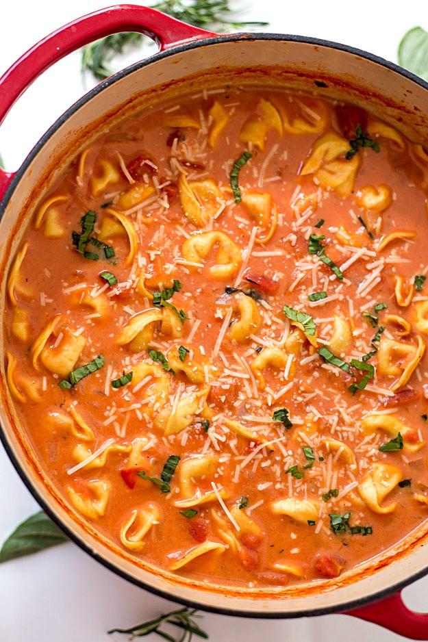 Creamy Tomato Tortellini Soup  e Pot Creamy Tomato Tortellini Soup Gal on a Mission