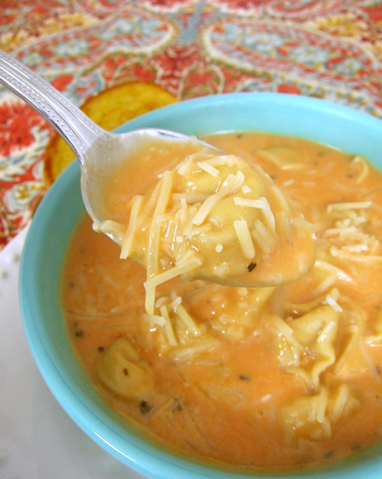 Creamy Tomato Tortellini Soup  Creamy Tomato Tortellini Soup