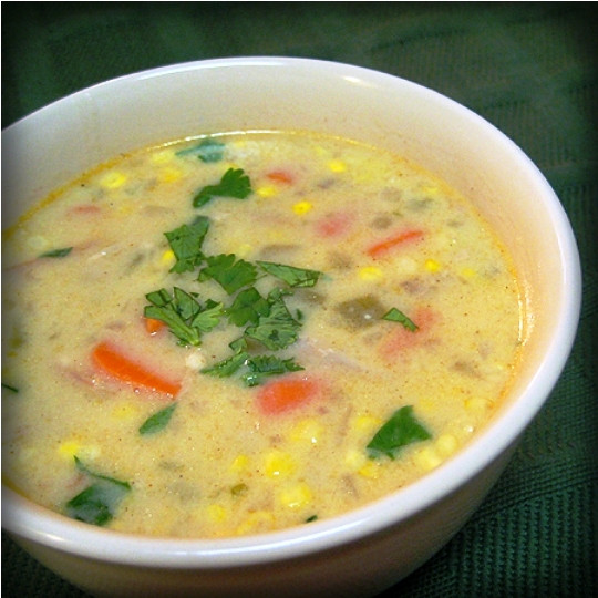 Creamy Turkey Soup  The Bestest Recipes line Creamy Mexican Turkey Soup