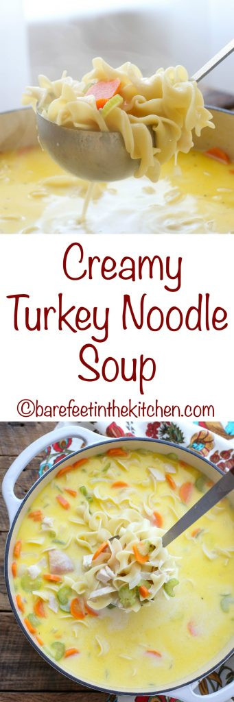 Creamy Turkey Soup  Creamy Turkey Noodle Soup