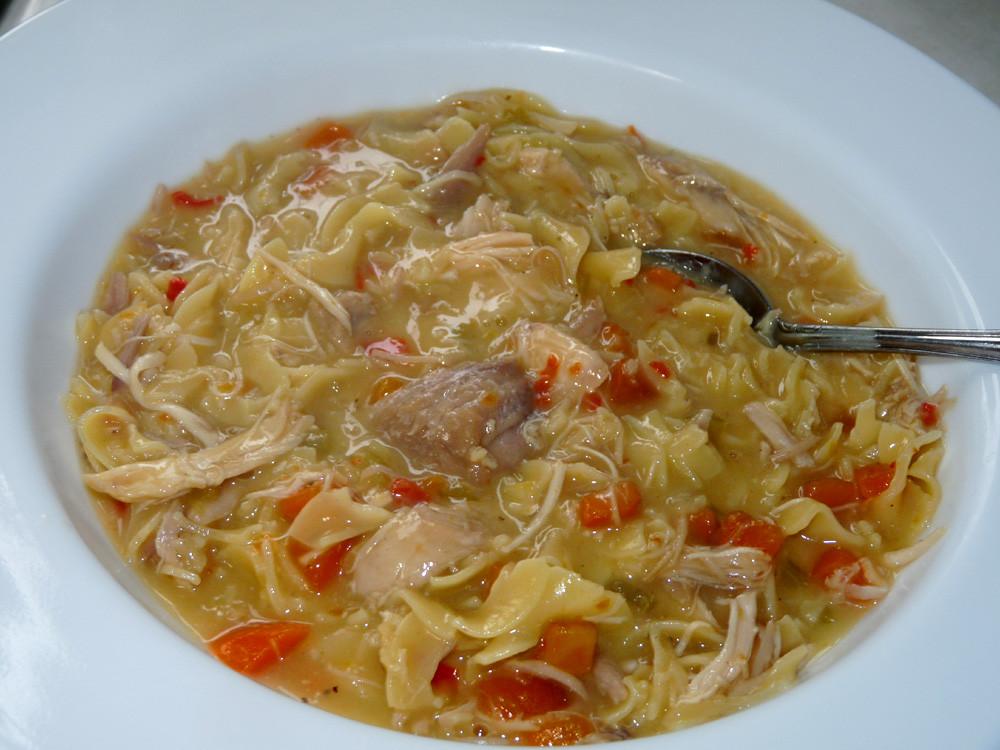 Creamy Turkey Soup  Cream of Turkey Noodle Soup