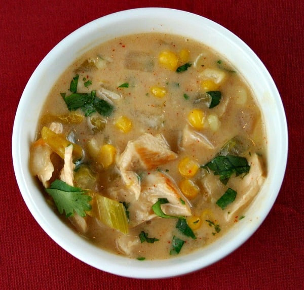 Creamy Turkey Soup  Weekly Menu Plan 23 Recipe Girl