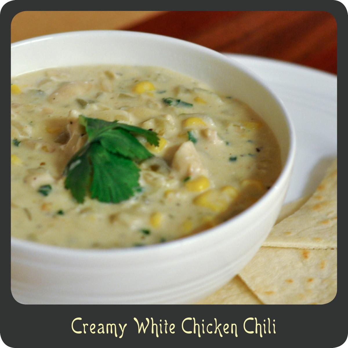 Creamy White Chicken Chili  Recipe—Creamy White Chicken Chili