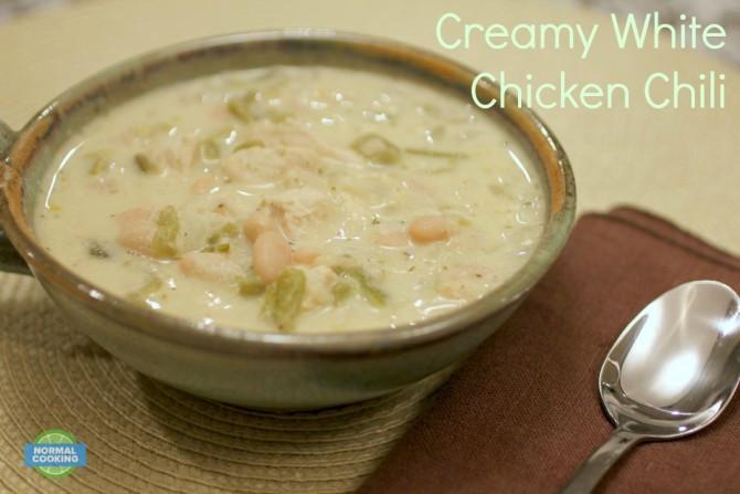Creamy White Chicken Chili  Creamy White Chicken Chili