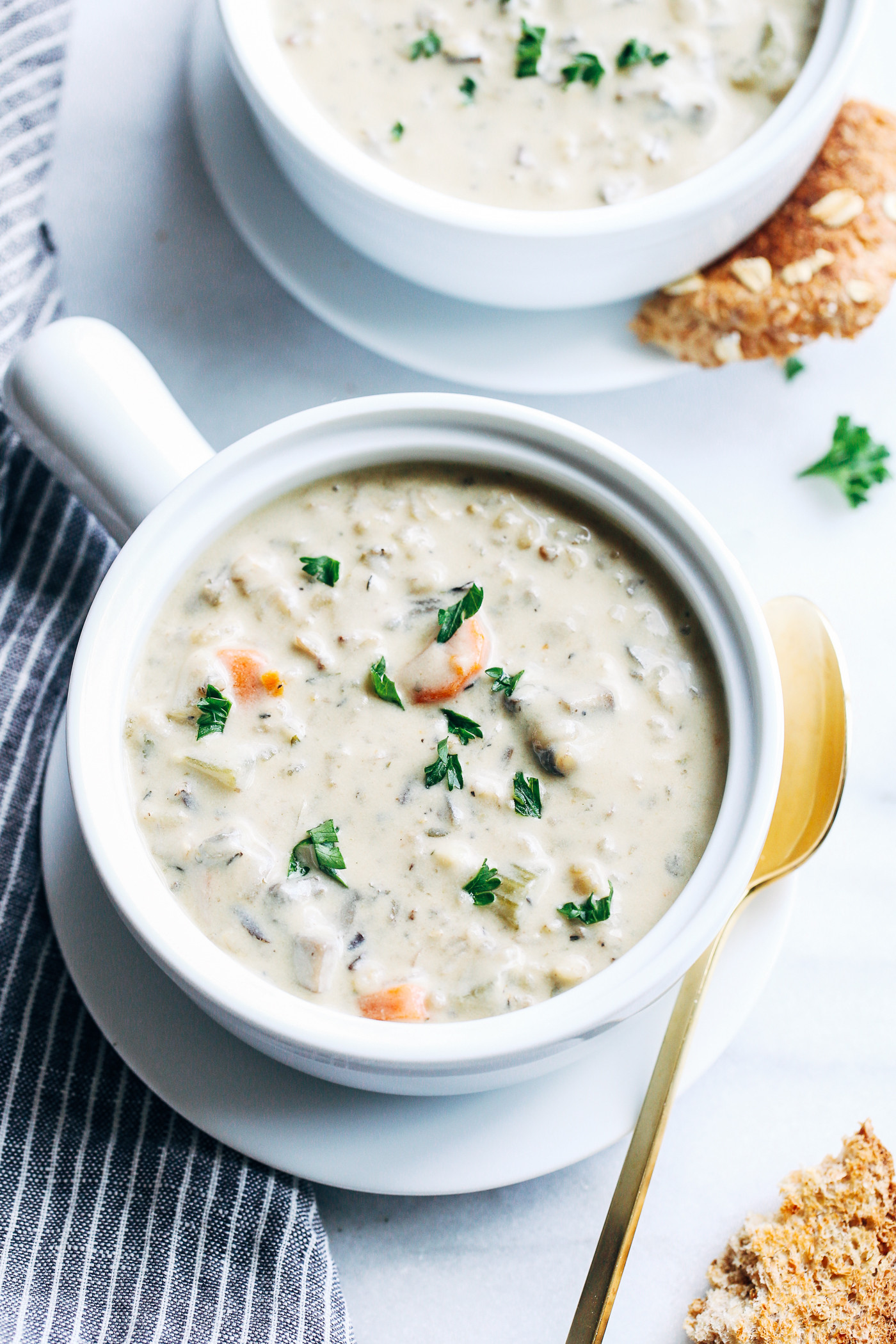 Creamy Wild Rice Soup  Creamy Wild Rice Mushroom Soup Making Thyme for Health