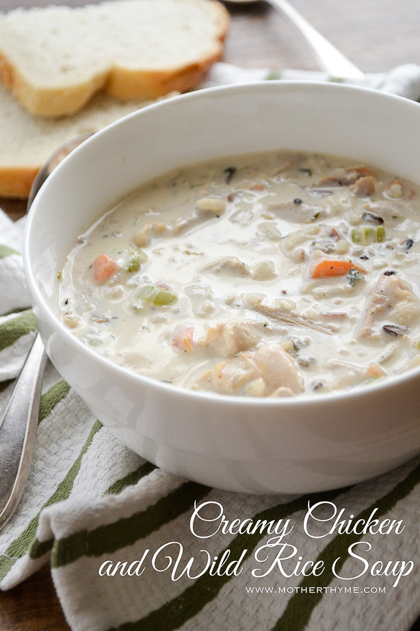 Creamy Wild Rice Soup  Creamy Chicken and Wild Rice Soup