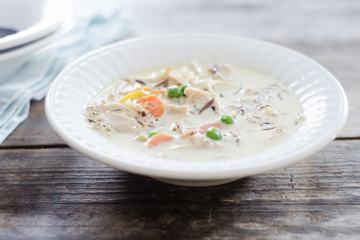 Creamy Wild Rice Soup  Creamy Chicken Wild Rice Soup