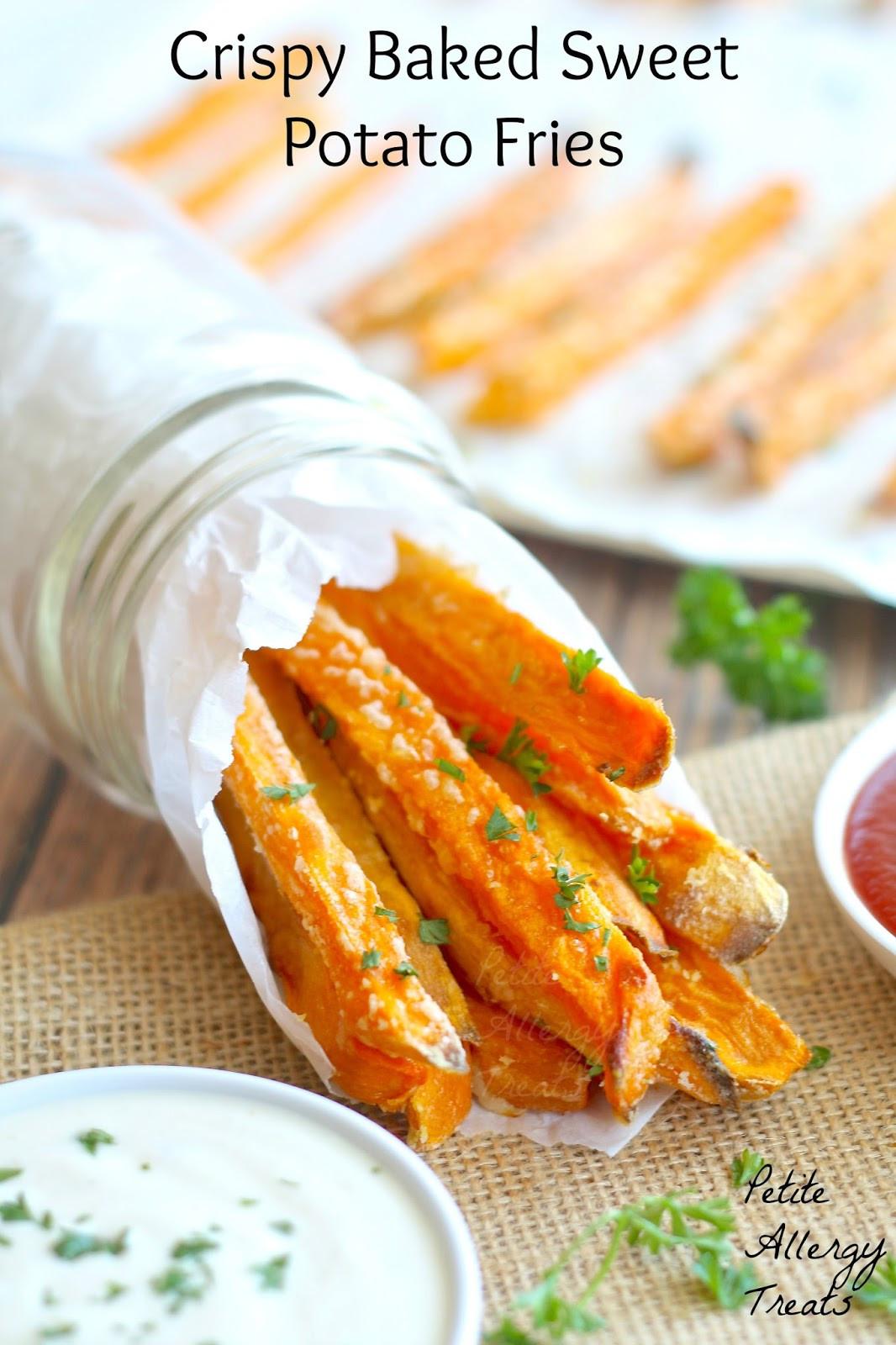 Crispy Baked Sweet Potato Fries  Baked Crispy Sweet Potato Fries Gluten Free Egg Free