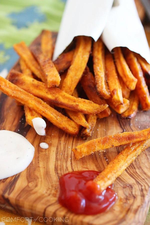 Crispy Baked Sweet Potato Fries  Crispy Baked Sweet Potato Fries