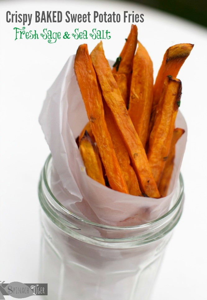 Crispy Baked Sweet Potato Fries  Sage Kissed Crispy Baked Healthy Sweet Potato Fries