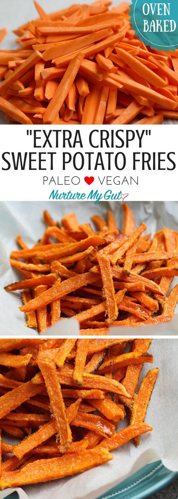 Crispy Baked Sweet Potato Fries  Crispy Oven Baked Sweet Potato Fries