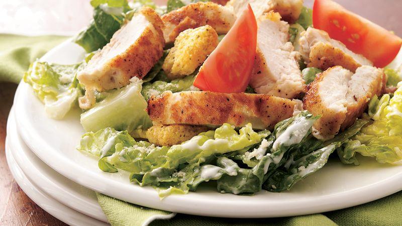 Crispy Chicken Salad  Crispy Chicken Caesar Salad recipe from Betty Crocker