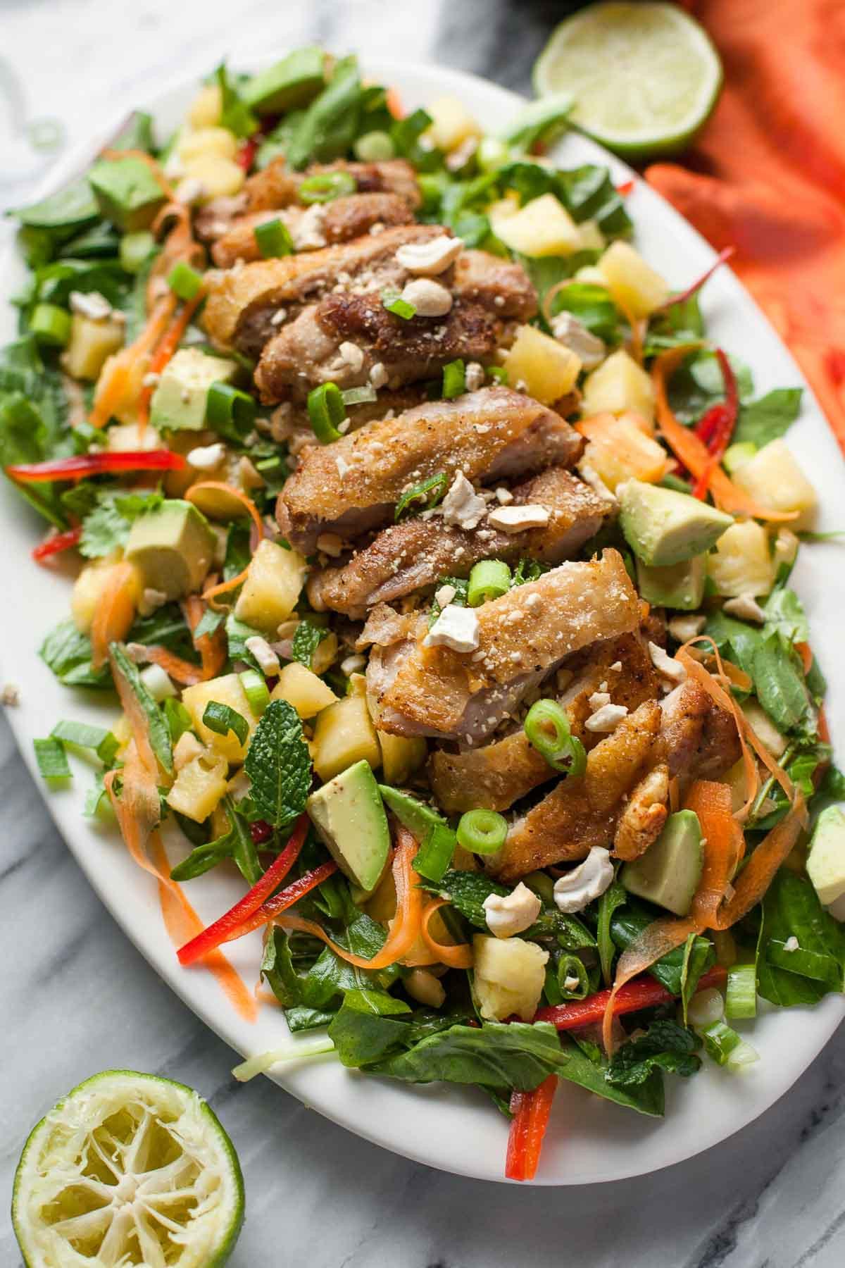 Crispy Chicken Salad  Crispy Chicken Thai Salad A Calculated Whisk