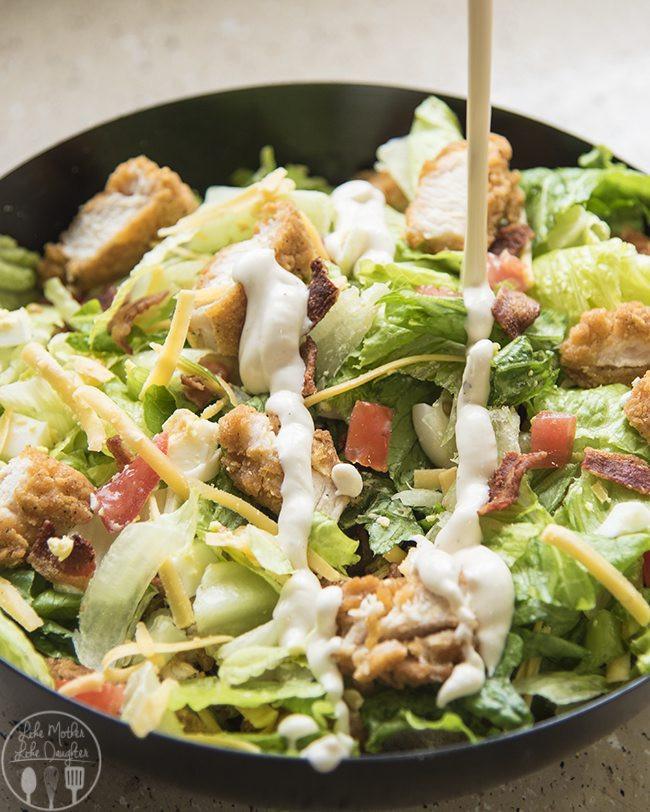 Crispy Chicken Salad  Crispy Chicken Cobb Salad Like Mother Like Daughter