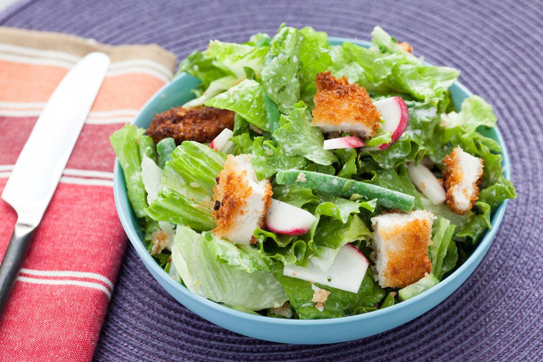 Crispy Chicken Salad  Recipe Crispy Chicken Chopped Salad with Creamy