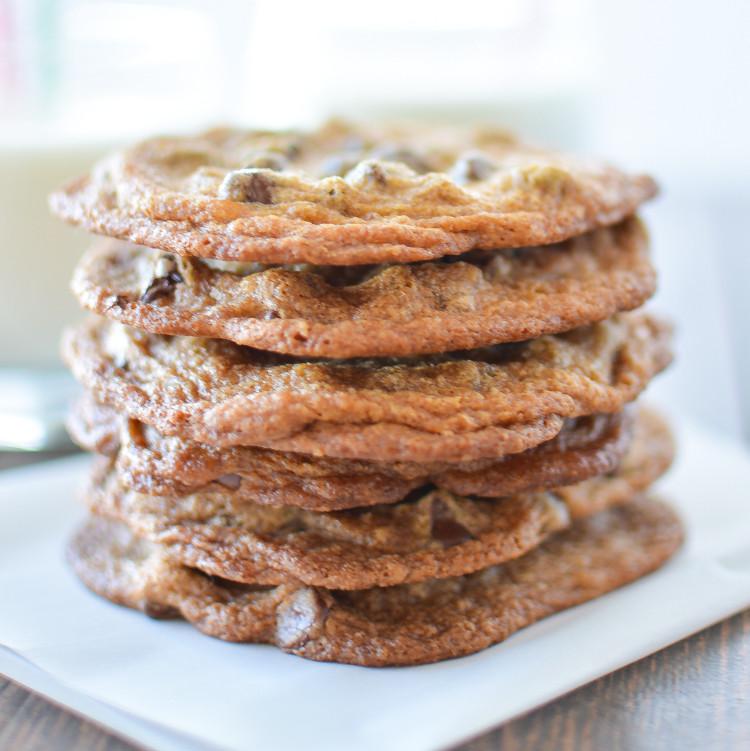 Crispy Chocolate Chip Cookies  Crispy Chocolate Chip Cookies with Pumpkin
