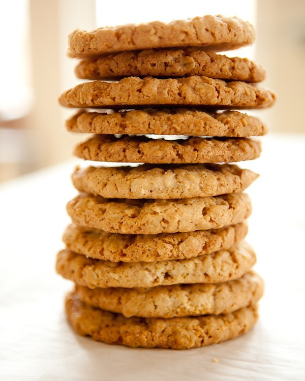Crispy Oatmeal Cookies  Crispy Oatmeal Cookies with Sea Salt Shoot to Cook
