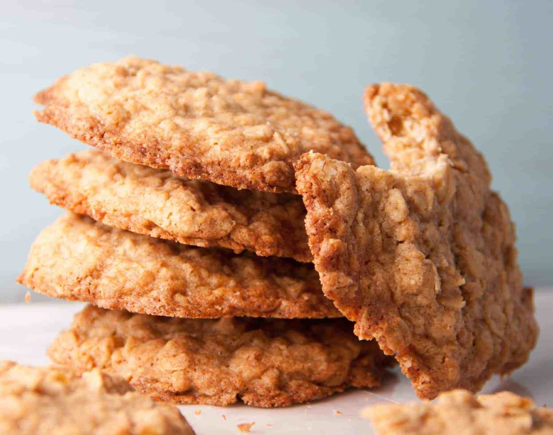 Crispy Oatmeal Cookies  Thin and Crispy Oatmeal Cookies Boston Girl Bakes
