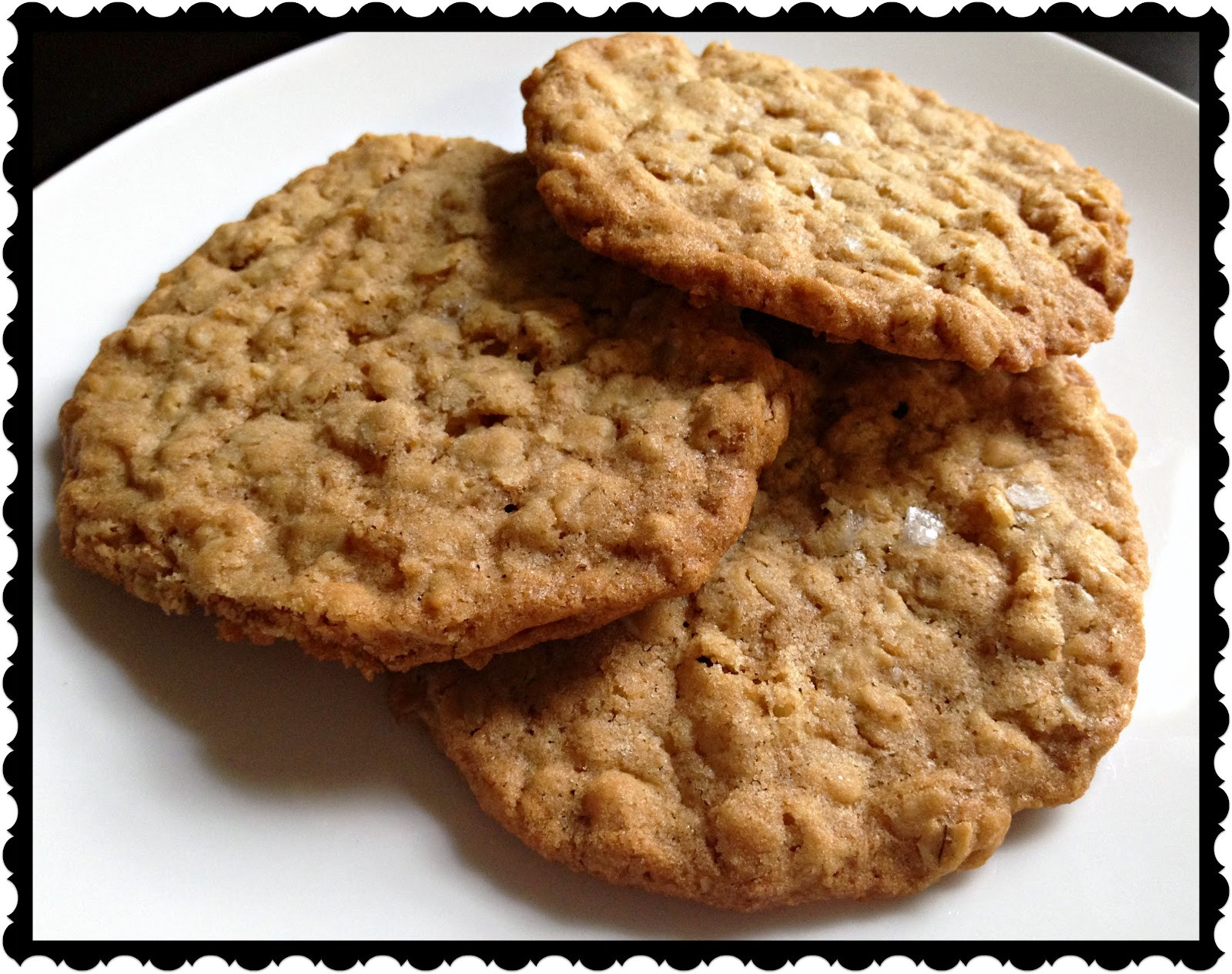 Crispy Oatmeal Cookies  A Girl And Her Fork Crispy Oatmeal Cookies with Maldon Salt