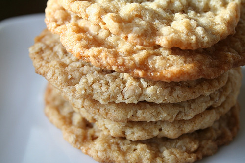 Crispy Oatmeal Cookies  Lisa Cooks Thin and Crispy Oatmeal Cookies