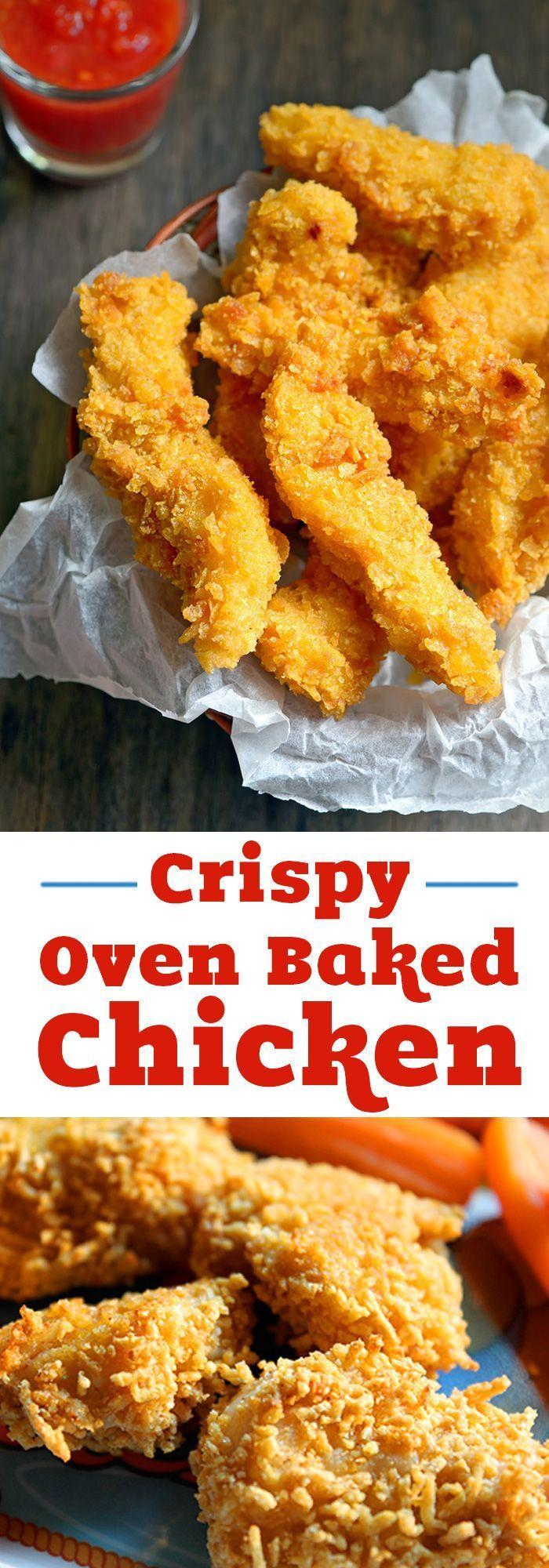 Crispy Oven Fried Chicken Recipe  best DIY Creative Ideas images on Pinterest