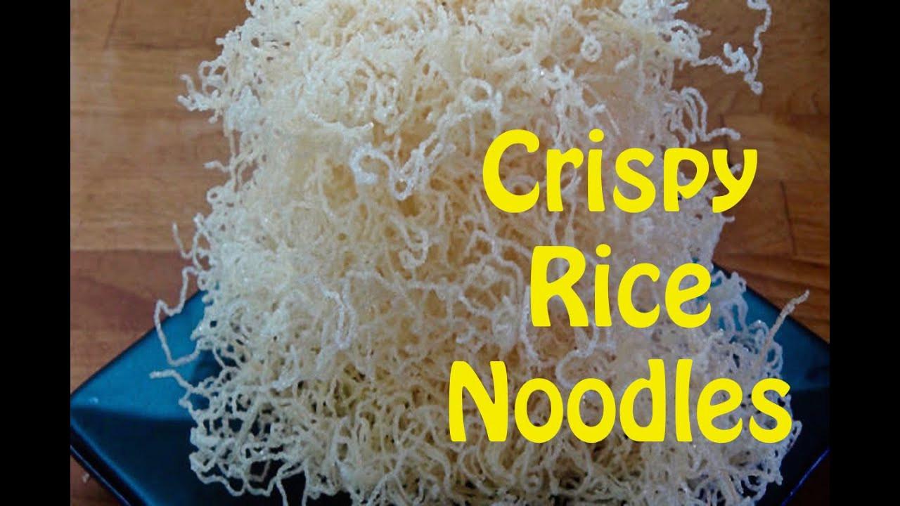 Crispy Rice Noodles  How to Cook Rice Noodles Crispy Rice Noodles The