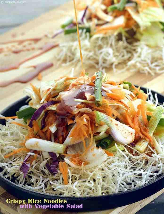 Crispy Rice Noodles  Crispy Rice Noodles with Ve able Salad recipe